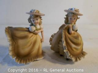 "Pair of Vintage Lefton Figurines made in Japan 4"" Tall"