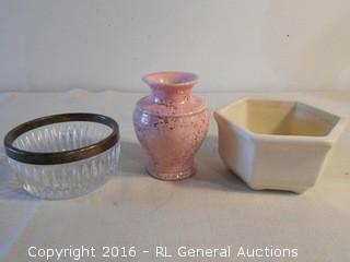 Vintage Pottery & Candy Dish