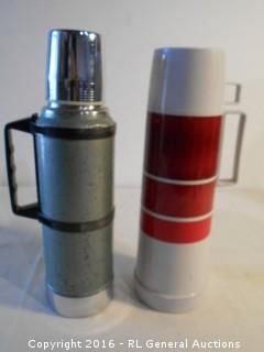 Vintage Stanley & Thermos Brand Thermos Jugs Complete