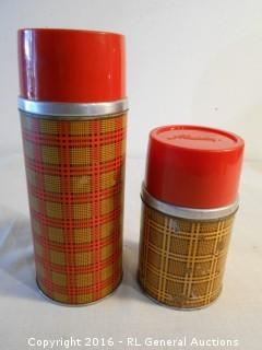 Vintage Aladdin Thermos Jugs Both Complete