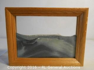 """Framed Sand Artwork  9"""" W X 6.5"""" T"""