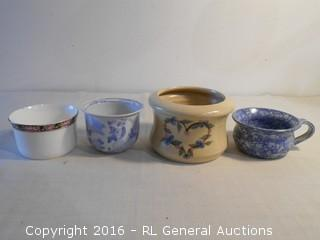 Signed Pottery + Lot