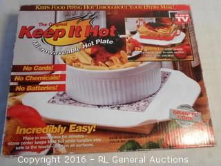 New KeepItHot Microwaveable Hotplate made w/ Natural Granite
