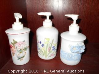 Ceramic Lotion / Soap Containers - Refillable