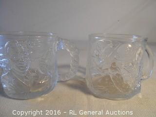 1995 DC Comics Batman Forever Glasses - Riddler & Two-Face