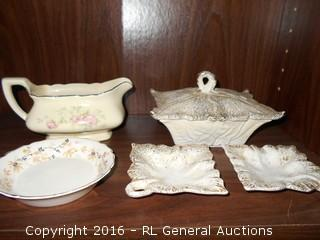 Vintage Decor Pc's - W.S. George Canarytone Creamer, California Pottery +