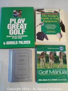 Golf Books Lot - Mastering The Fundamentals by Arnold Palmer +