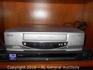 Sony DVD Player & Akai 4 Head VCR