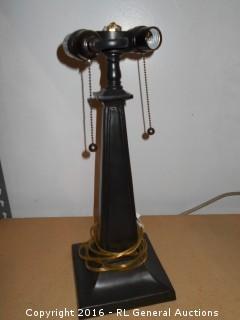 "Double Lamp No Shade 18"" Tall"