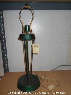 "Metal Lamp No Shade 25"" Tall"