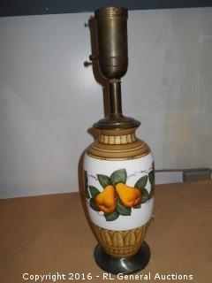"""Vintage Lamp No Shade 21.5"""" Tall"""