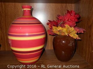 "Vase Lot 11"" & 6"" Tall"