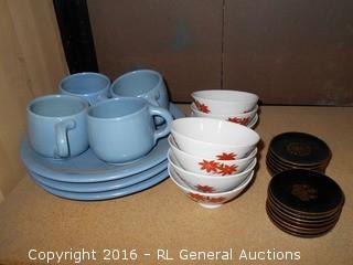 Mixed Lot - Dish's, Coasters, Saki Cups