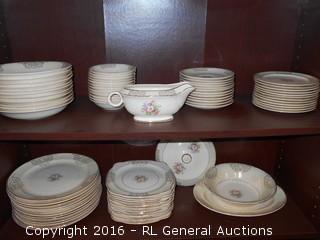 Antique Paden City Pottery Co. USA 75 Pc Dish Set
