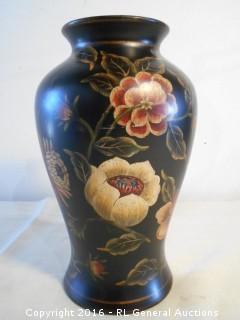 """Unique Ceramic Bombay Outlet Half Vase - Wall Mount  12"""" T X 7"""" W"""