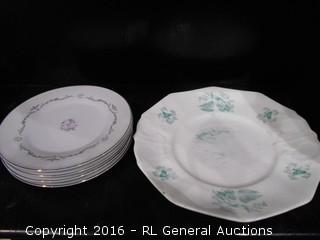 "Vintage Dish's - Signature Collection Select Fine China Japan ""Petite Bouquet"" Pattern + Antique Plate"