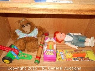 Collectible Pez Dispensers, Alf Doll, Old Cannon +