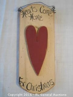 "Old Homestead Inc. Wood Wall Hanger  14"" T X 5.5"" W"