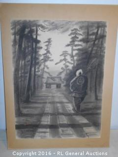 "Original Signed Unframed Artwork 15"" W X 20"" T"