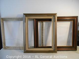 3 Large Vintage Picture Frames