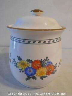 "Large Jar w/ Lid - Cookie Jar?  7"" Dia. X 9"" T"