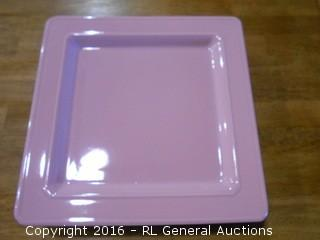 "Set of 4 Large Plates 12"" Sq."