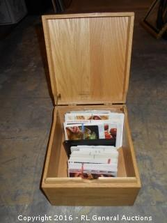 "Vintage 1959 Merchants Box w/ Recipe Cards 9"" W X 10"" D X 6.75"" T"