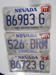 Vintage Nevada License Plates