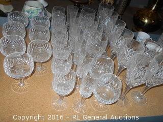 Set of 35 High End Glasses