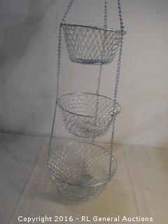 New 3 Tier Hanging Fruit Basket