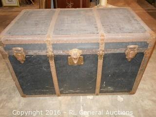 """Large Antique Belber Trunk  40"""" W X 23"""" D X 24"""" T"""
