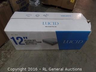 Lucid 12 Inch Gel Memory Foam Mattress New in Box