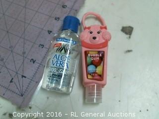 Aloe Vera gel and bubble gum