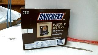 Snickers 72 Count Flexible Display Counter top