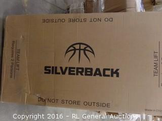 "Silverback 60"" In Ground Basket Ball System Package damaged New in Box"