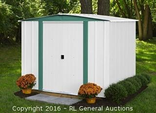 Arrow Steel Storage Shed retail $249.64  (Package damaged New in Box)