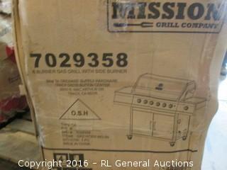 6 Burner Gas Grill with side burner