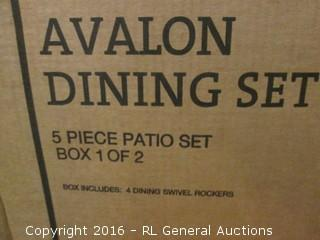 Dining Set Box 1 of 2 ONLY/ missing Hardware