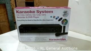 Karaoke System Powers on Please Preview