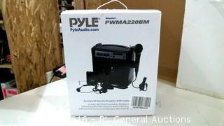 Pyle Portable PA Speaker Amplifier & Microphone
