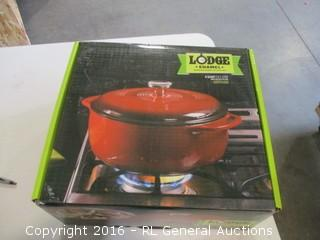 Lodge Red Dutch Oven