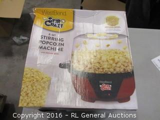 Stirring Popcorn Machine