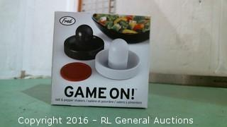 Game On Salt and Pepper Shakers