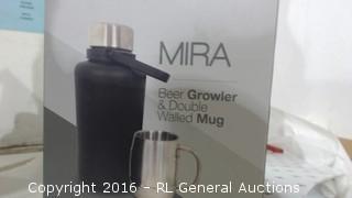 Beer Growler & Double Walled Mug