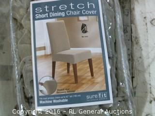 Stretch Short Dining Chair Cover