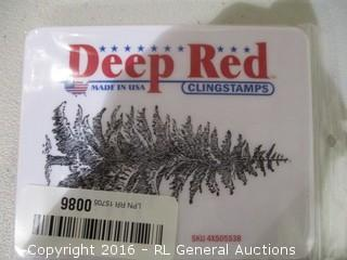 Deep Red Cling Stamps