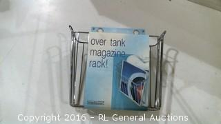 Over Tank Magazine Rack