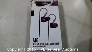 M6 In-Ear Sports Headphones with Memory Wire