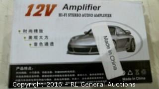 12V Amplifier Hi-Fi Stereo Audio Amplifier