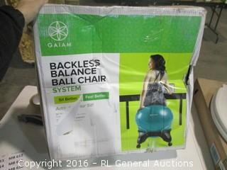 Backless Balance Ball Chair